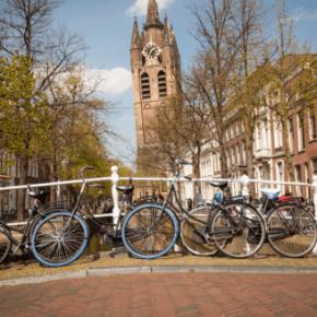 Foto: Fietsen in Delft